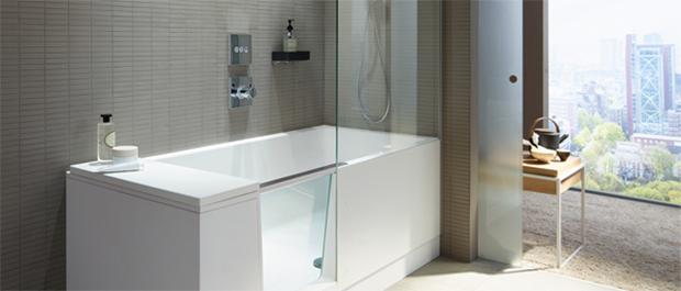 badekar og dusj i ett Walk in dusj og badekar i ett badekar og dusj i ett